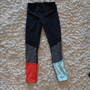 Black/Coral/Mint Green Lululemon Leggings